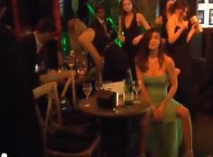 Belen Rodriguez abito tulle alla festa di MArtorana
