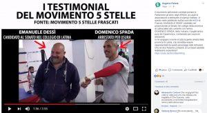 Emanuele Dessì, candidato M5s a Latina in un video con Domenico Spada. La polemica
