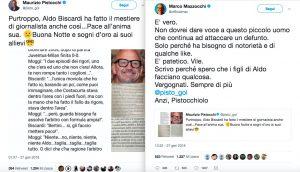 Maurizio Pistocchi-Marco Mazzocchi lite su Twitter per Aldo Biscardi