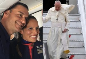 Papa-Francesco-sposa-hostess-steward