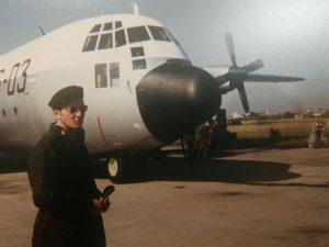 La foto di Pietro Abruzzetti sul servizio militare svolto in Aeronautica
