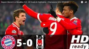 Bayern-Besiktas 5-0, highlights: Lewandowski bomber implacabile