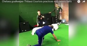 YOUTUBE Thibaut Courtois allenamento con palline da tennis (VIDEO)