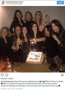 Elisabetta Gregoraci, compleanno da single con le amiche