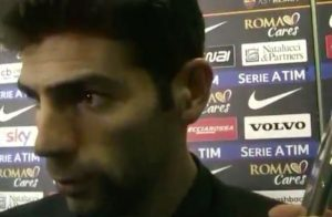 Federico Fazio litiga con Ubaldo Righetti durante diretta su Roma Tv