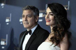 Amal e George Clooney (foto Ansa)