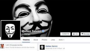 AnonPlus colpisce ancora: hackerata la pagina Facebook di Matteo Salvini