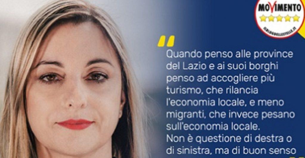 I manifesti della Lombardi su turismo e migranti