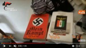 La casa di Luca Traini dopo l'arresto: il Mein Kampf, la bandiera con la croce celtica
