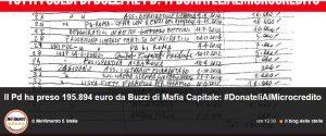 """M5s contro Renzi: """"Scandalo rimborsi? Ecco i bonifici fatti da Buzzi, Pd quando li restituisce?"""""""