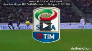 Ibrahima Mbaye video espulsione Inter-Bologna: entrata su Rafinha