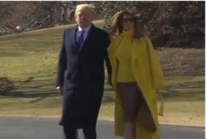 Melania Trump ancora una volta rifiuta la mano del marito in pubblico