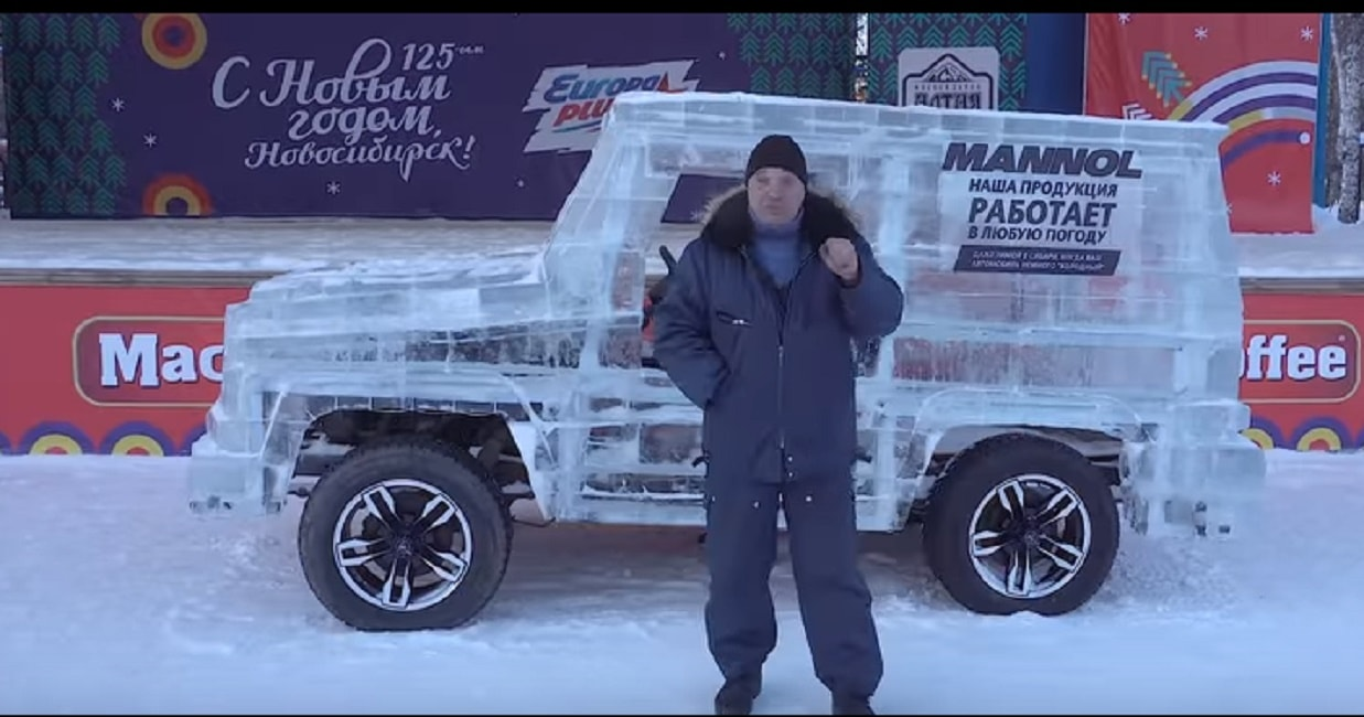 4X4 realizzata col ghiaccio in Siberia: la jeep funziona davvero