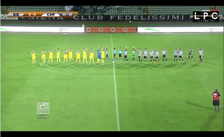 Siena-Carrarese RaiSport diretta tv, Sportube streaming live. Ecco come vedere il posticipo