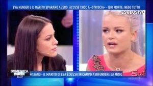 """Domenica Live, Teresanna Pugliese contro Mercedesz Henger sul canna gate di Francesco Monte: """"Tua madre Eva si spogliava e ora..."""""""