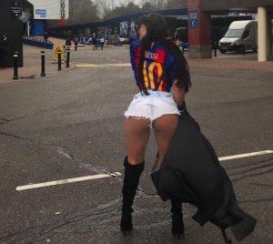 "YOUTUBE Suzy Cortez ""Miss Bum Bum"" (FOTO-VIDEO) a Londra per Chelsea-Barcellona"