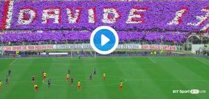 Davide Astori, Fiorentina-Benevento (VIDEO): calciatori si fermano al 13'
