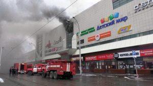 Pompieri in azione in Russia