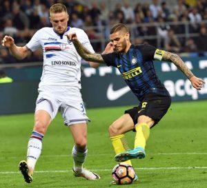 Sampdoria-Inter diretta highlights pagelle