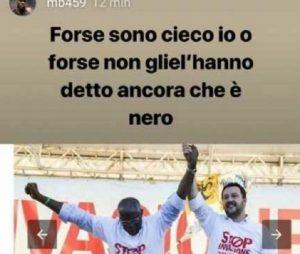 """Mario Balotelli contro Toni Iwobi della Lega: """"Forse non gliel'hanno ancora detto che è nero"""""""