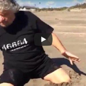 Beppe Grillo e il video pubblicato su Facebook