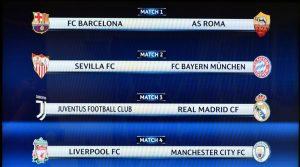 calendario quarti champions league