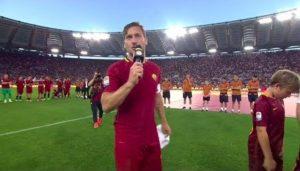 Fabrizio Frizzi, il suo tweet nel giorno dell'addio di Francesco Totti