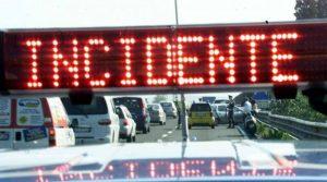 Incidente sulla A1 Milano-Napoli all'altezza di Colleferro