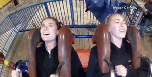 Megan ha paura dell'altezza ma sale sulla giostra: ecco la sua reazione VIDEO