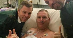 Roma, turista colpito da infarto incontra il poliziotto che gli ha salvato la vita