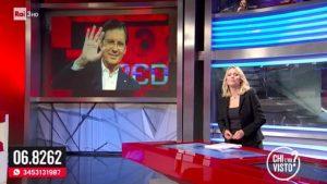 """Federica Sciarelli saluta Fabrizio Frizzi in diretta tv: """"Ciao dalla tua grande famiglia"""""""
