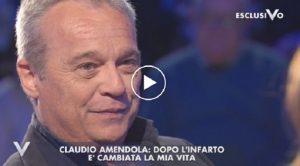 """Claudio Amendola a Verissimo: """"Dopo l'infarto la mia vita..."""""""
