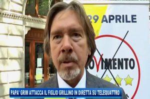 """Federico Grim, il padre (del Pd) attacca in diretta Tv il possibile assessore grillino: """"M5s? Una scelta scellerata"""""""