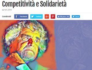 Il Rag. Grillo fa il verso a Marx:  il 'gruppo' ha cambiato il mondo...proletari unitevi!