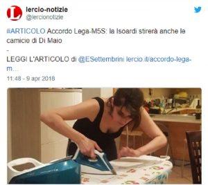 "Elisa Isoardi, ironia social su lady Salvini: ""Stirerà le camicie a Di Maio?"""