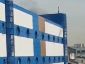 Incendio in un centro commerciale di Mosca, in Russia