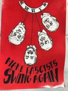 Matteo Salvini, manifesto choc a Pavia: impiccato a testa in giù