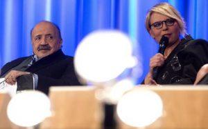"""Maurizio Costanzo: """"Maria De Filippi? Ho un solo rimpianto..."""" (foto Ansa)"""