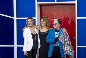 Simona Izzo(S), Barbara D'Urso (C) e Cristiano Malgioglio
