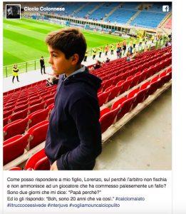 """Inter-Juventus, Colonnese: """"Come spiego a mio figlio che sono 20 anni che va così?"""""""
