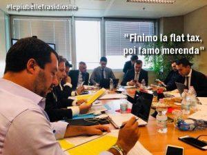 """""""Finimo la flat tax, poi famo merenda"""": ironia social su Salvini-Di Maio statisti in erba"""