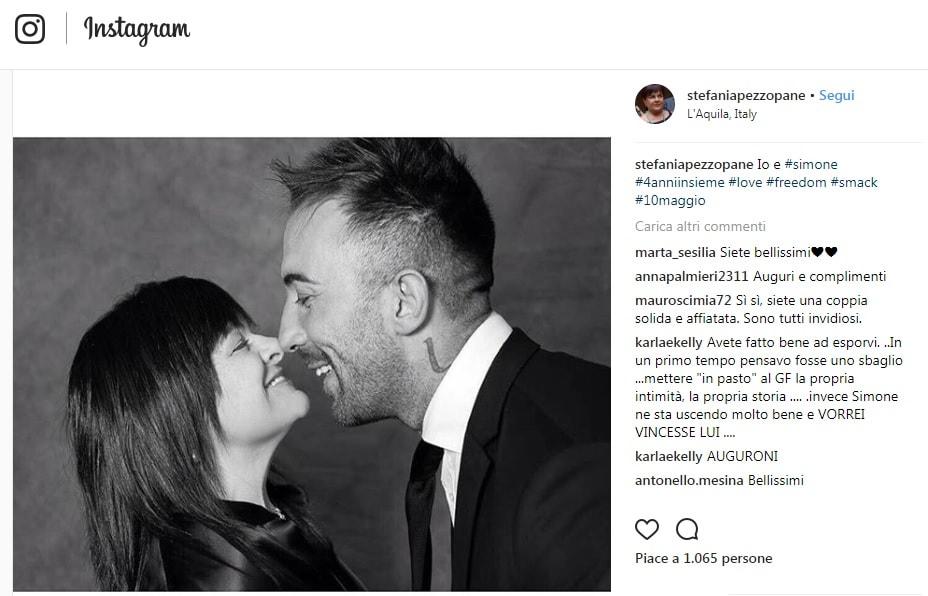 Stefania Pezzopane messaggio amore Simone Coccia
