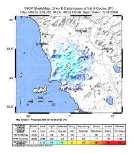 Terremoto Toscana 1 maggio