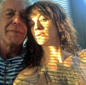 Anthony Bourdain con Asia Argento