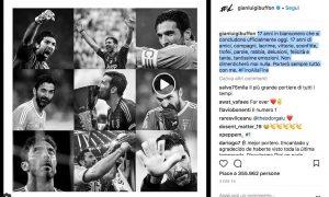 Buffon commuove tifosi Juventus con post di addio, giocherà nel Psg