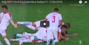 Kolarov video gol su punizione in Costa Rica-Serbia