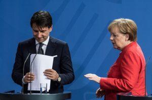 Conte e Merkel a Berlino