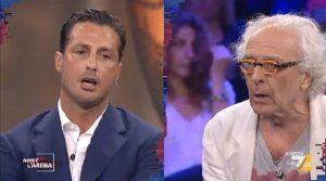 """YOUTUBE Fabrizio Corona, rissa a Non è l'Arena con Mughini: """"Ti compro e ti metto in giardino a scrivere libri"""""""