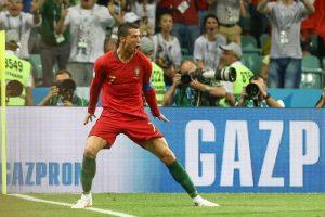 Portogallo-Spagna 3-3, Cristiano Ronaldo tripletta da Pallone d'Oro