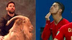 Cristiano Ronaldo sfotte Lionel Messi con questa esultanza